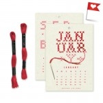 2014 Year in Stitches Calendar Kit by Heather Lins