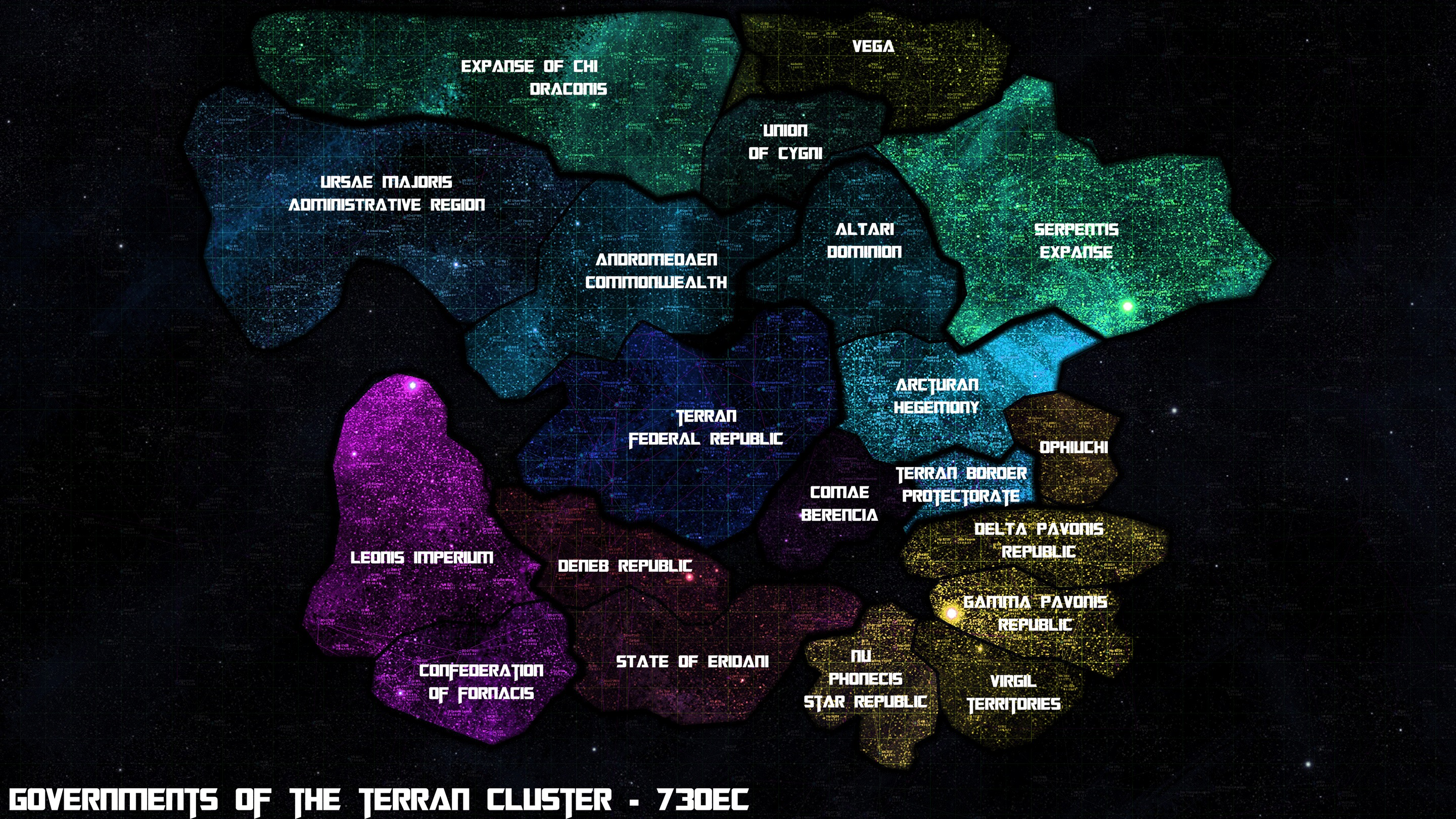 More Sci-Fi star mapping goodness - The Terran Cluster ...
