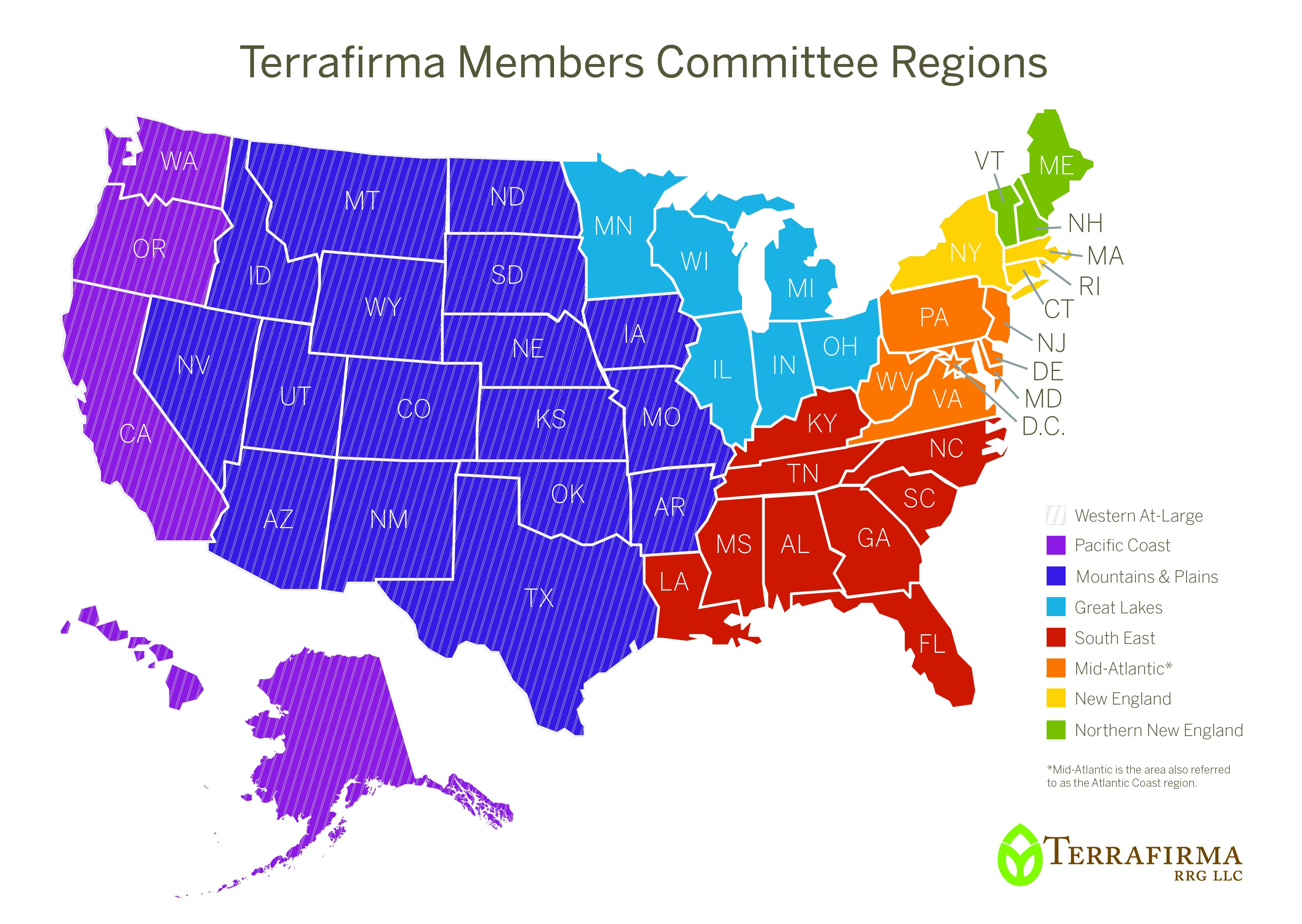 Us Land Regions Map Terrafirma