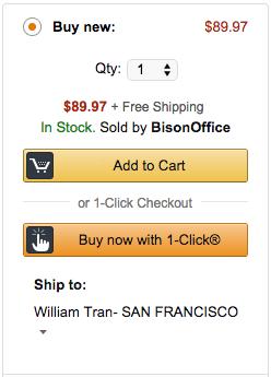One click checkout | Amazon