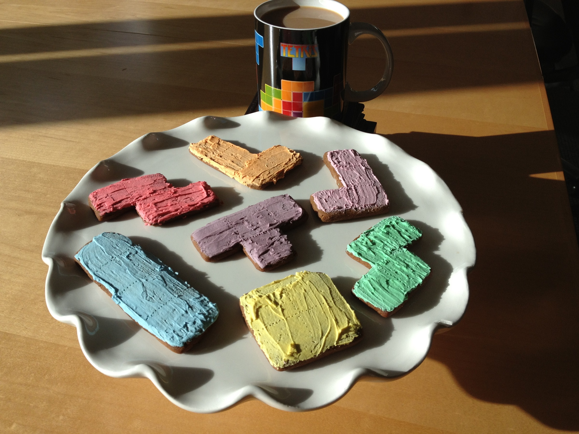 How to Bake Delicious Tetris-Themed Cookies
