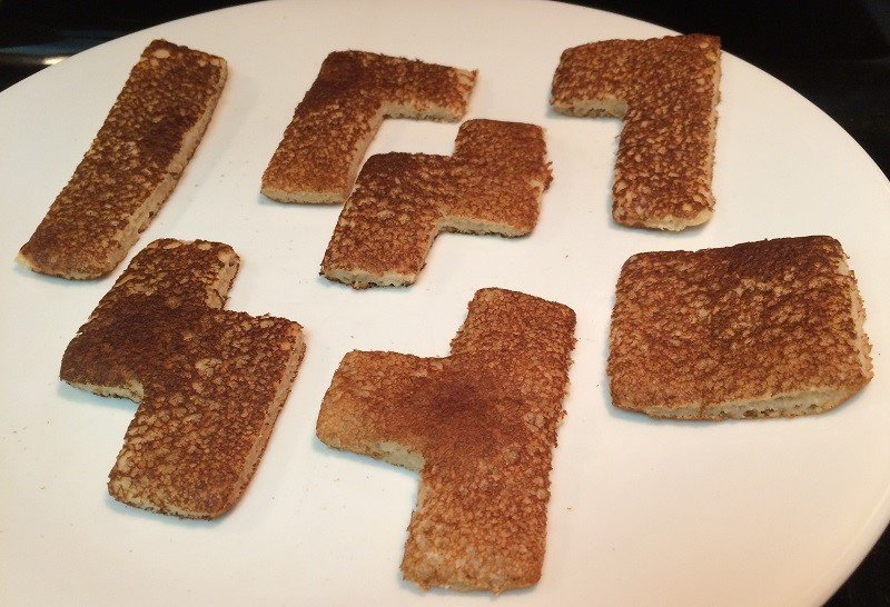 How to Make Fluffy Tetris Pancakes