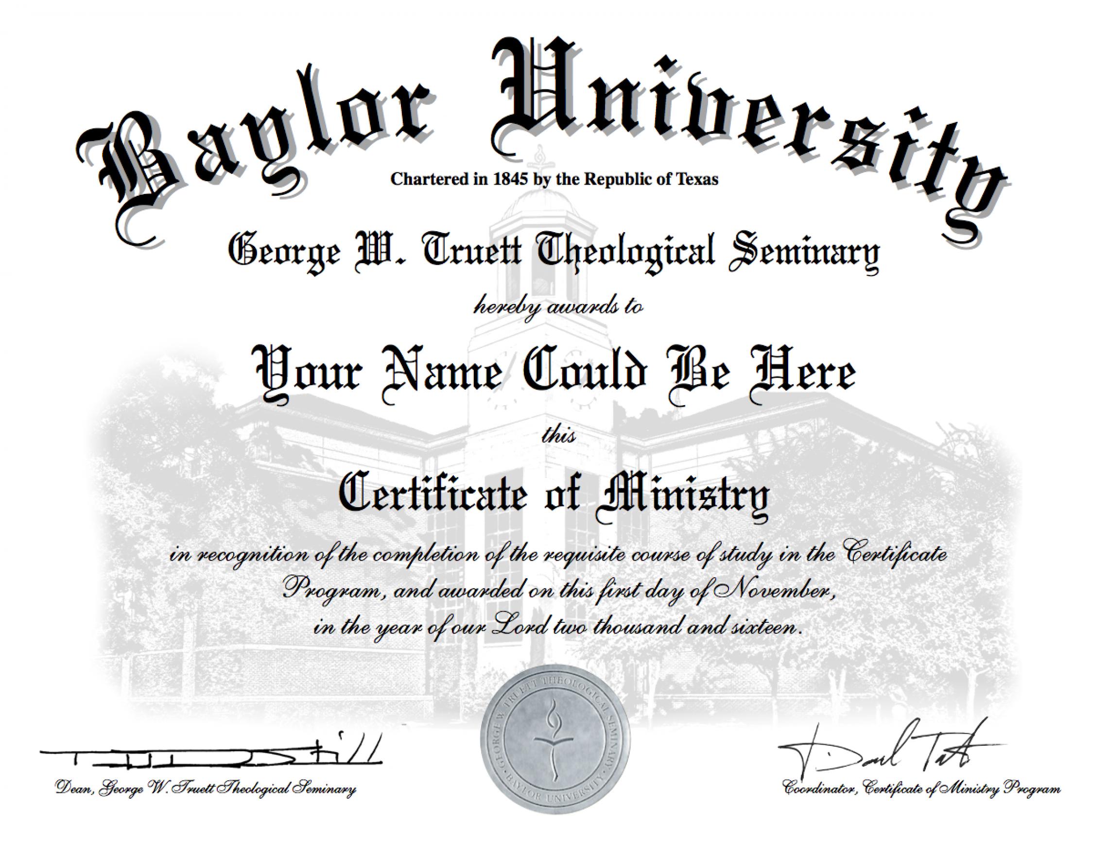 Texas Baptists Partnership With Truett Theological Seminary