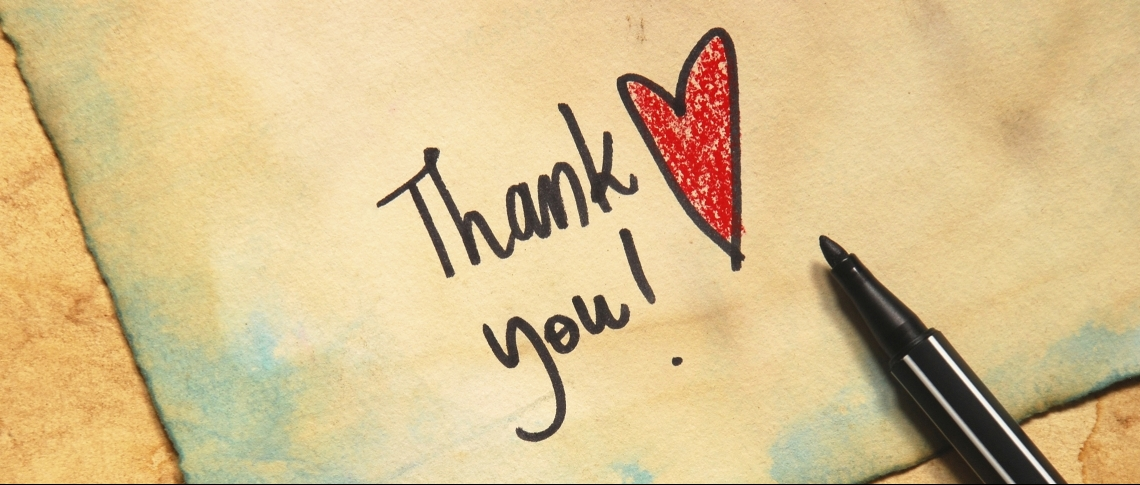 a thank you note to ministers wives