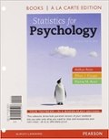 Statistics for Psychology, Books a la Carte Edition Solutions Manual