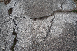 Damaged asphalt terrain 0002