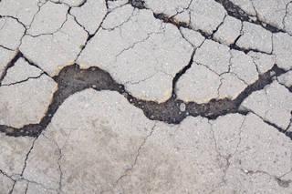Damaged asphalt terrain 0021