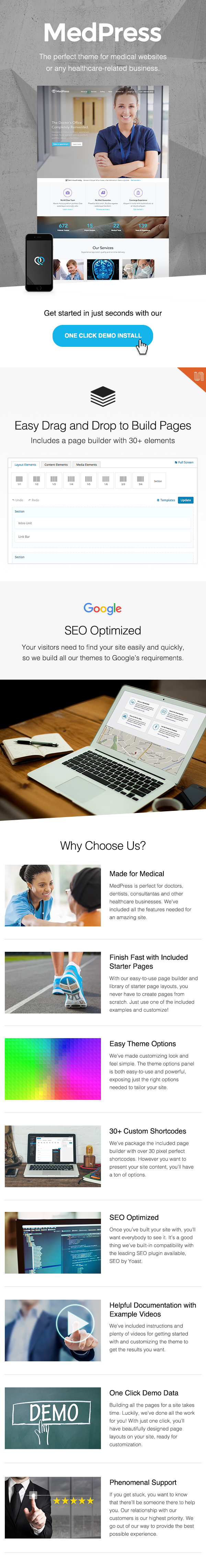wordpress subcategory template - medpress premium medical and healthcare wordpress theme
