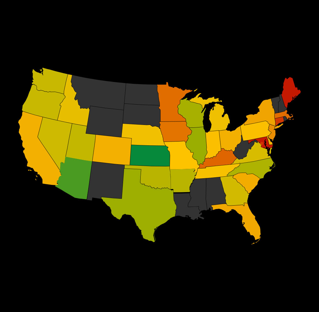 Average data scientist salary by state