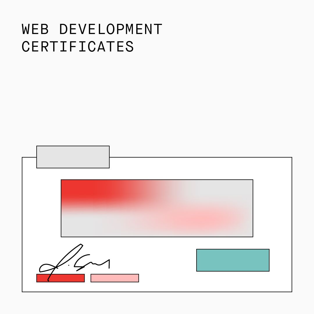 Web Development Certificates