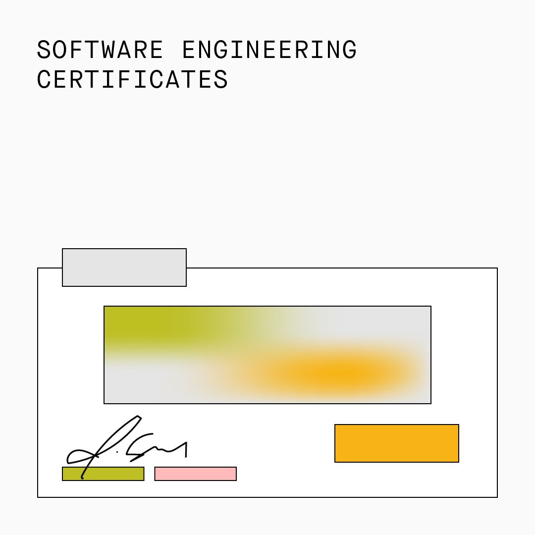 Software Engineering Certificates