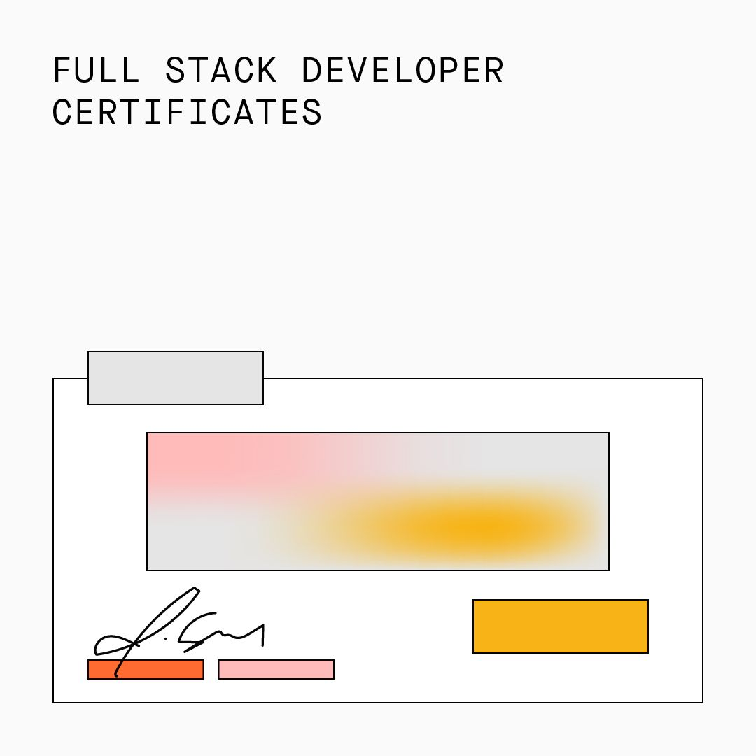 Full Stack Developer Certificates