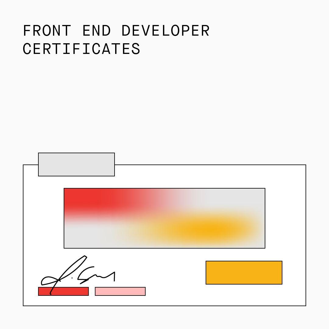 Front End Developer Certificates