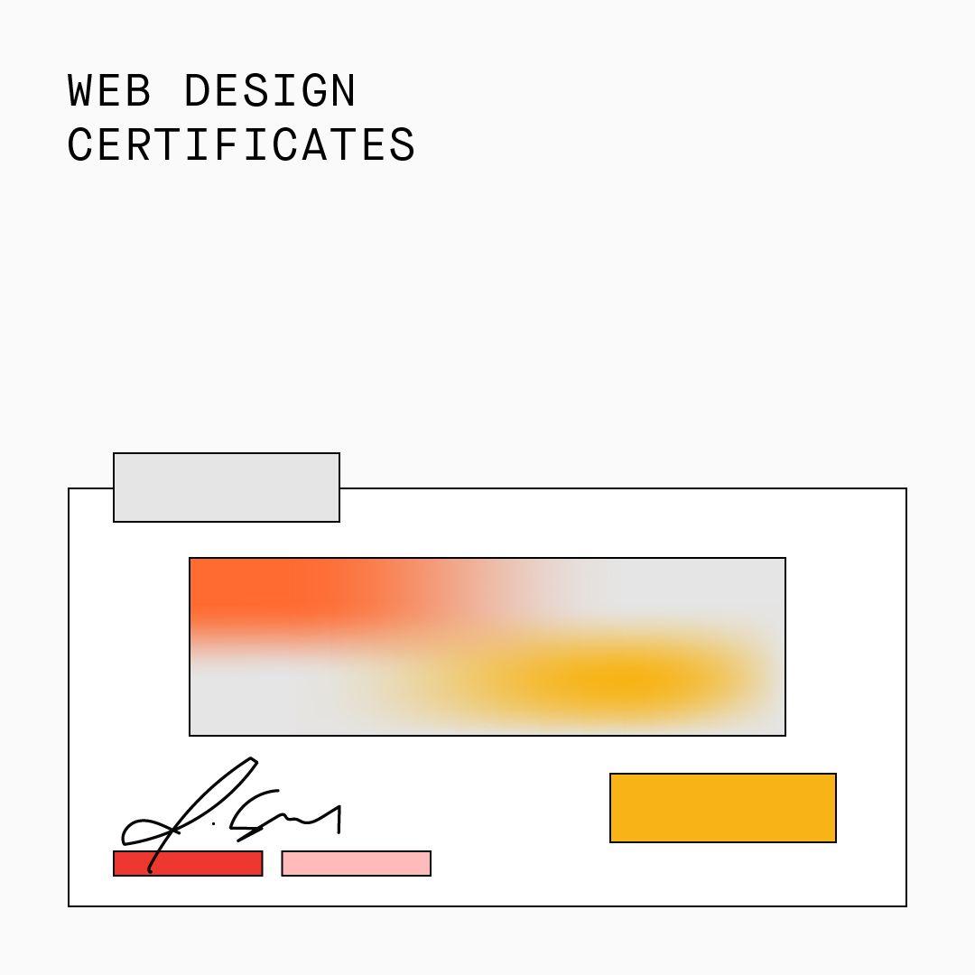 Web Design Certificates