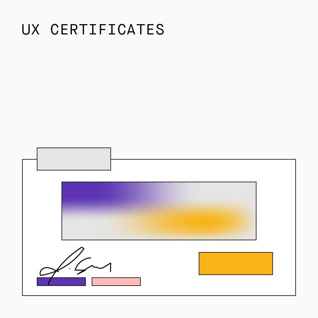 UX Certificates