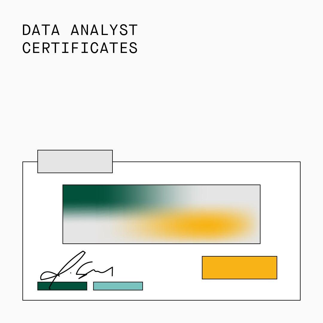 Data Analyst Certificates