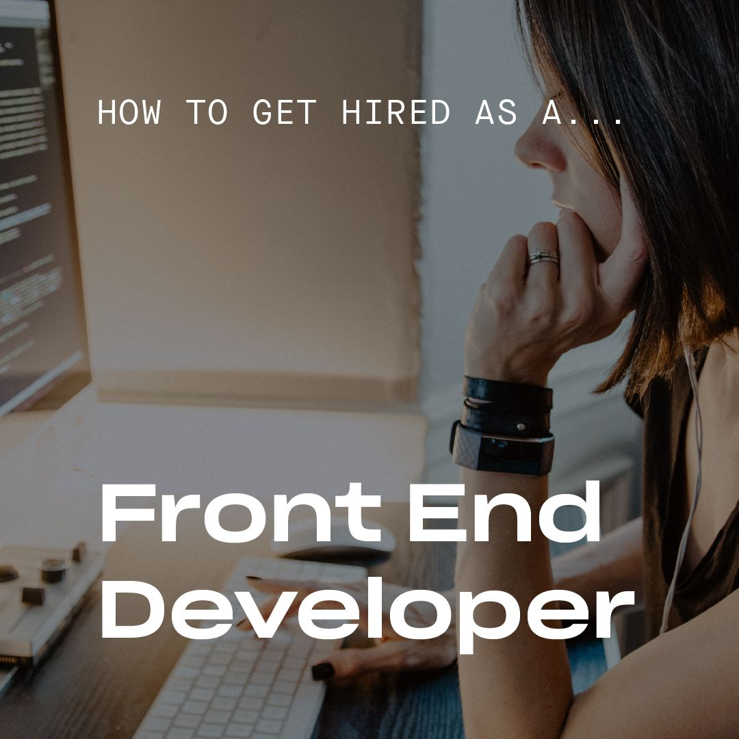 How to Get a Job as a Front-End Developer