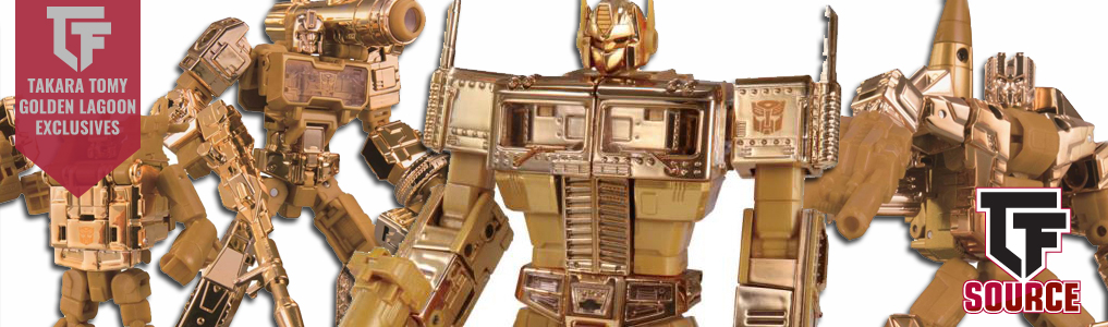 Golden Lagoon Takara Tomy Mall Exclusives!A Japan Wonderfest Exclusive relive the Golden Lagoon episode of the G1 Transformers Cartoon! Limited Stock available - Preorder yours at TFSource today!