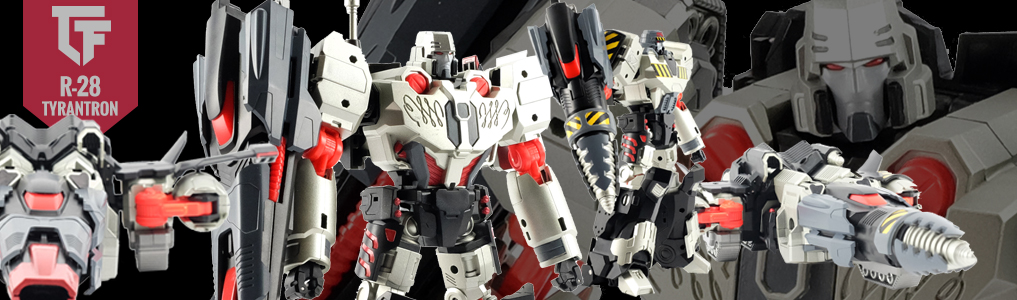 "Preorder MMC's Tyrannical  R-28 - Tyrantron Today!Tyrantron stands 20CM/8"" tall and features an arsenal of weaponry, alternate head and body parts, and more.  Preorder yours at TFSource today!"