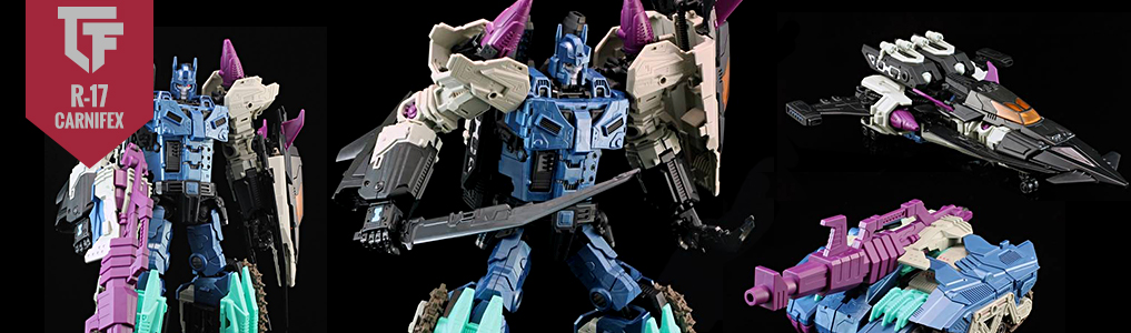 "MMC's Carnifex Now Back Instock!Pick up MMC's diabolical Carnifex, destroyer of bots, this massive butcher towers over other bots at 12""/31.5CM tall!  Also instock is the Carnifex Continuum Add-on set. Order yours at TFSource today!"