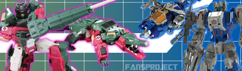 Fansproject's Function-X line is back along with their dino-combiner RYU-OH!Crox, Dino-ichi & Dino-Ni now instock at TFSource, Browning II instock soon!