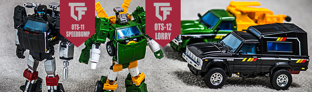 "Preorder Badcube's latest two Masterpieces today!Speedbump and Lorry are Badcube's newest Masterpiece scaled figures that stand 8""/20CM tall and features die-cast parts!  Preorder yours today at TFSource!"