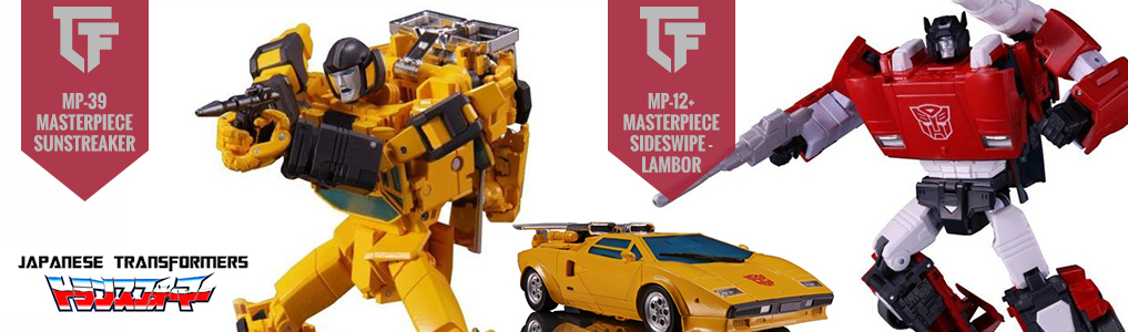 MP-39 Masterpiece Sunstreaker Now Instock!The long awaited duo arrives!  Sunstreaker finally receives Masterpiece glory as well as his brother in arms Sideswipe will see a new reissue with MP-12+.  Both instock, order yours at TFSource Today!