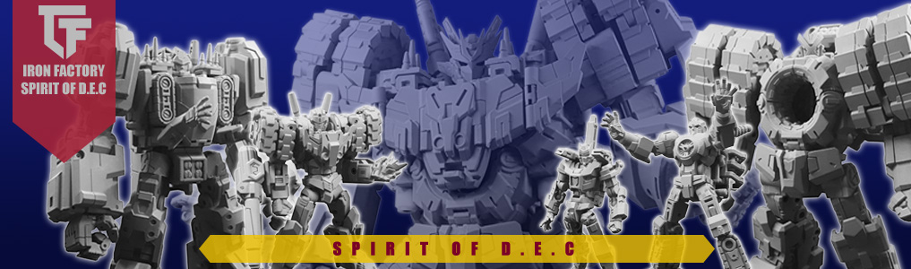 Iron Factory's Impressive Spirits of the DEC up for preorder!All 5 figures individually transform but combine together to form one mighty combiner!  Preorder yours at TFSource today!