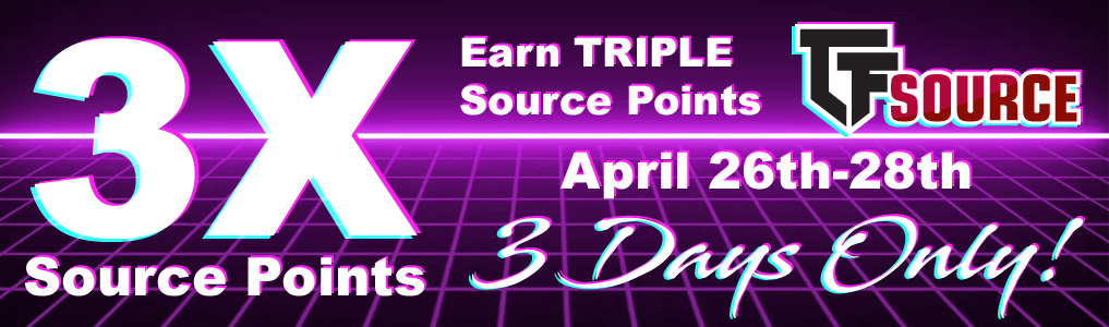 Earn TRIPLE Source Points!This Weekend only, Earn 3X's Source Points on traditional instock orders and any orders pushed from Stack! - Must be enrolled! Shop & Earn April 26th – April 28th!