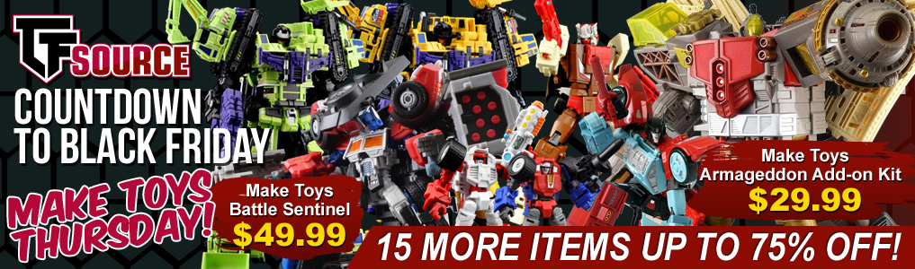 Countdown to Black Friday DAY 4! Happy Thanksgiving! We're thankful for Day 4 of the Countdown to Black Friday sale! Save up to 75% on these MakeToys items and more! One day only!