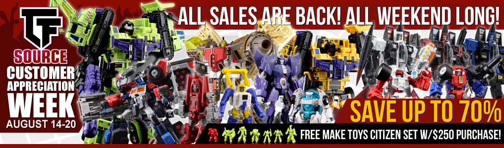 Massive Savings All Weekend Long! If you missed out don't worry because all previous Customer Appreciation Week sales items are back! Save BIG all weekend long August 18 - 20! Hurry while supplies last! FREE MakeToys Citizen Set with $250 purchase ends 8/20!