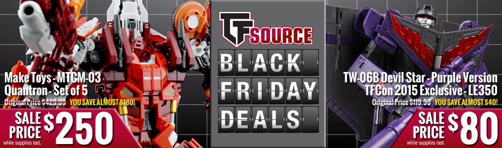 TFsource Black Friday Sale - Check out these two deals added for Black Friday: Quantron & Devil Star!Save now on these & MANY more great items, on sale NOW!