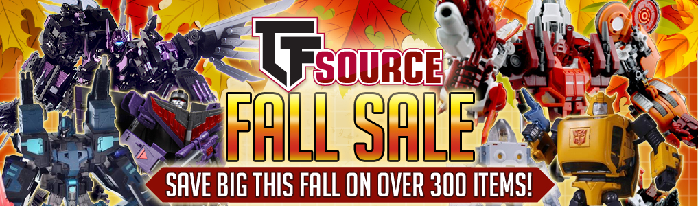 Save BIG on nearly 400 items at TFSource's Fall Sale!Fall into TF Savings at TFSource's Fall Sale! Nearly 400 items with more to be added, save up to 70% off!