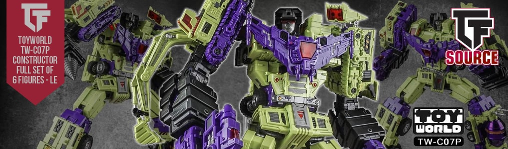 """The ultimate Combiner by Toyworld is now instock!Remastered and upgraded featuring red tinted windows, metal paint apps and towering at over 20"""" tall in combined form, limited to just 500 pieces worldwide order this Masterpiece scaled combiner today at TFSource!"""