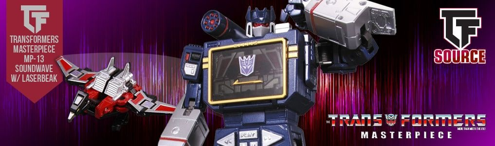 Transformers Masterpiece MP-13 Soundwave w Laserbeak Reissue!Great news for all those that are missing this iconic tape deck from their collection.  Preorder yours at TFSource today!