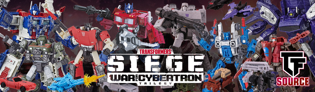 Transformers Siege War for Cybertron Now up for Preorder!!The latest line from Hasbro features many G1 favorites including Deluxe, Micromaster, Voyager, Battlemaster and Leader Class Figures!  Order yours at TFSource Today!