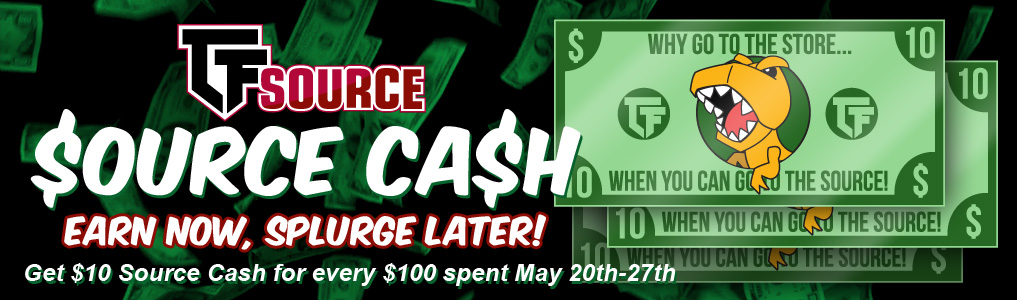 Earn Now, Splurge Later!Get $10 Source Cash for every $100 you spend on qualifying traditional instock orders -  Now through May 27th! Earn Source Cash today!