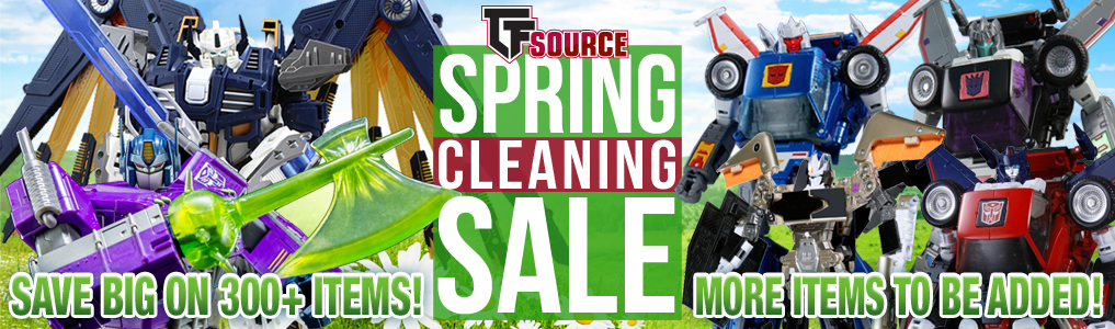Save BIG on 300+ items at TFSource's Spring Cleaning Sale!We're cleaning out the warehouse and you can save BIG TF Savings at TFSource's Spring Cleaning Sale! 300 items with more to be added, save up to 70% off!