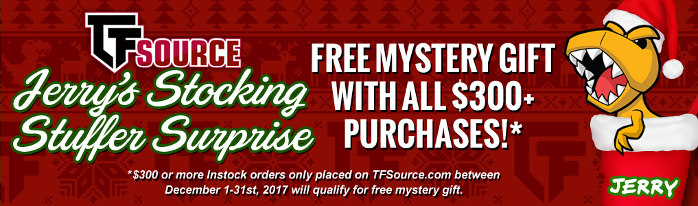 Stocking Stuffer Surprise! Jerry's Stocking Stuffer Surprise is back! Get a FREE mystery gift with instock order $300 or more placed between December 1st- 31st! Daily new mystery gift!