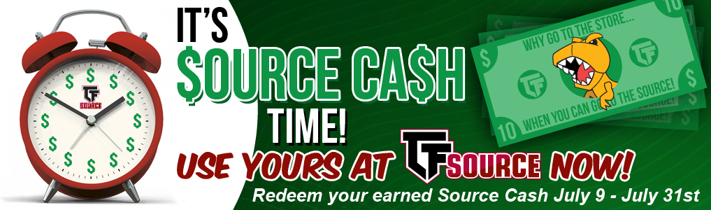 Spend Source Cash Today!The best time to use your Source Cash is now! Splurge July 9th - 31st!