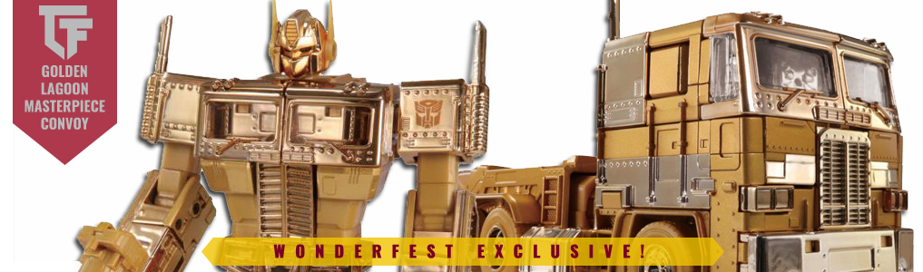 Golden Lagoon Takara Tomy Maserpiece Optimus Prime Instock!A Japan Wonderfest Exclusive relive the Golden Lagoon episode of the G1 Transformers Cartoon! Limited Stock available - Order yours at TFsource today!