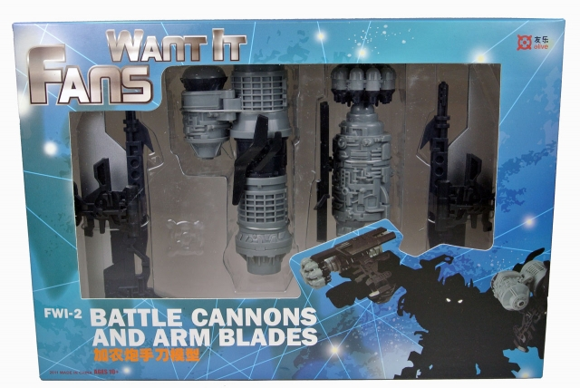 FWI-2 - Battle Cannons And Arm Blades - Custom Add-on Kit - MIB - 100% Complete