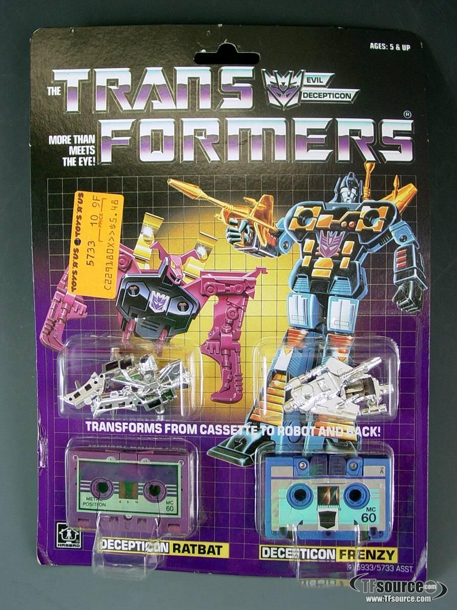Transformers G1 - Carded  - Ratbat and Frenzy