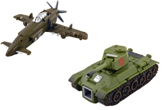 TFC Toys - Iron Army - Set B - T34 & J-7 Shinden - Loose Complete