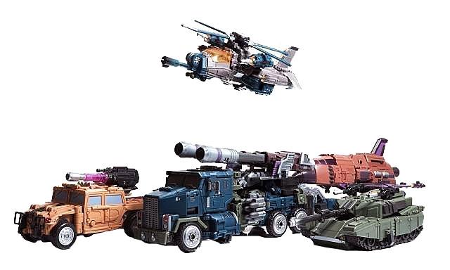 Warbotron - WB01 - Full Set of 5 Figures  - Loose