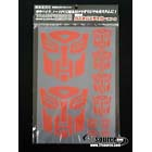 Autobot Sticker Sheet - 20cm x 30cm - 8 x 12 inches