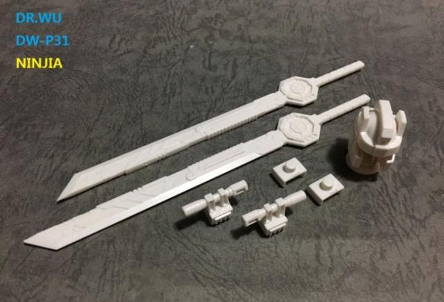 DR. WU - DW-P31 - NINJA - Set of Swords & Weapons