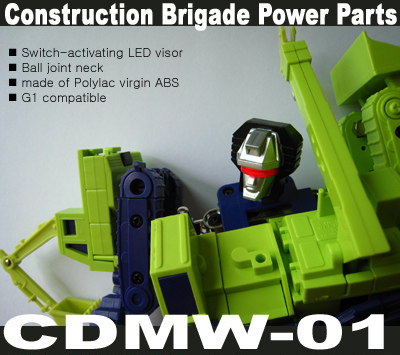 CDMW-01 Construction Brigade Power Parts - LED Devastator Head - MOC