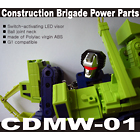 CDMW-01 Construction Brigade Power Parts - LED Devastator Head - MOC