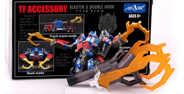 Spark - Blaster & Double Hook for MPM-4 Optimus Prime